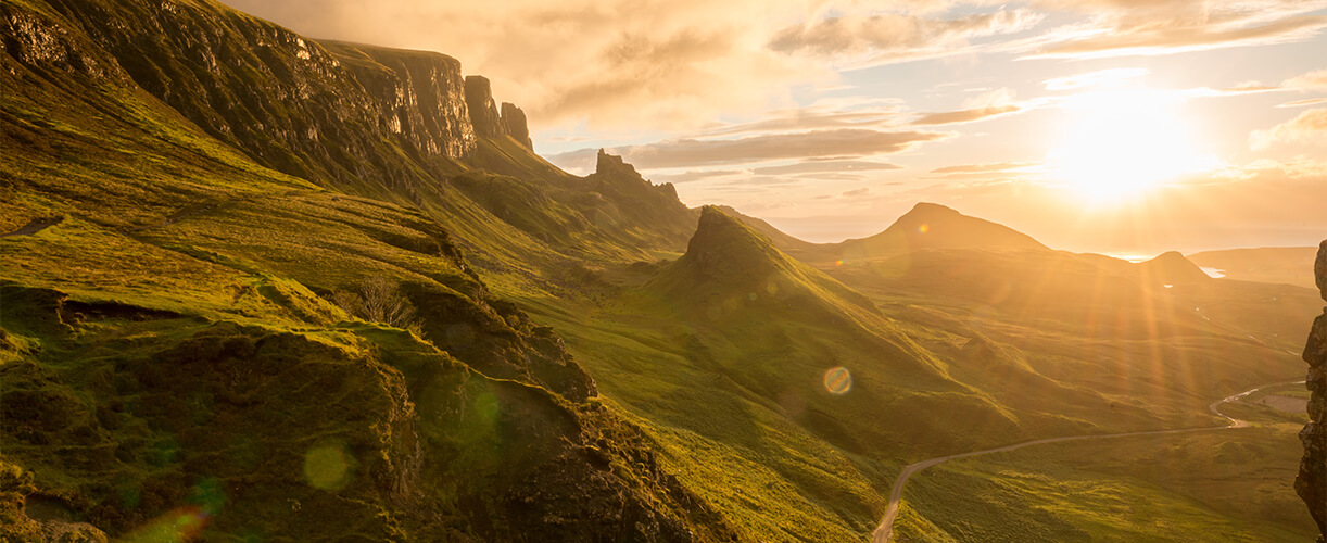 beautiful hills of the isle of skye