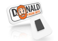 Donald from Skye logo fridge magnet